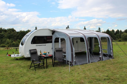 The Outdoor Revolution Elise 390 Caravan Awning is Sold by Devon Outdoor and The Camping and Kite Centre.