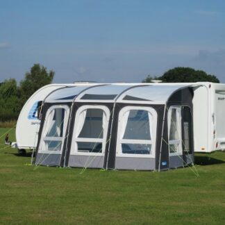 The Kampa Ace Pro 400 Caravan Awning is Sold by Devon Outdoor and The Camping and Kite Centre.