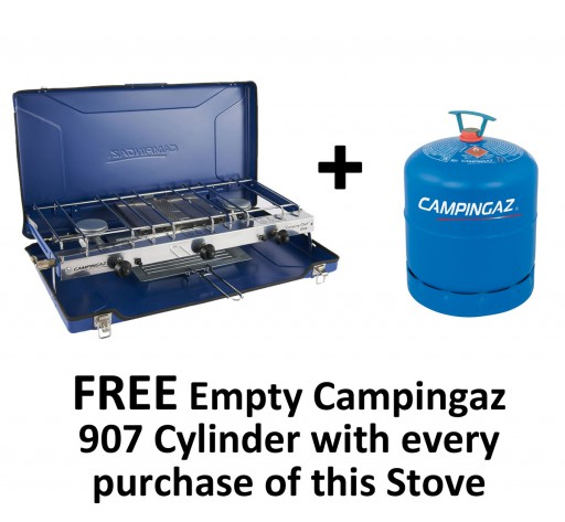 The Campingaz Camping Chef Folding Stove is Sold by Devon Outdoor and The Camping and Kite Centre.