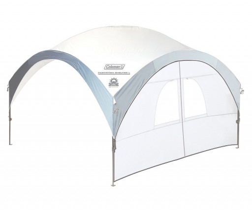 The Coleman FastPitch XL Sunwall with Door is Sold by Devon Outdoor and The Camping and Kite Centre.