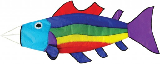 The Spirit of Air Rainbow Fish Windsock is Sold by Devon Outdoor and The Camping and Kite Centre.