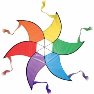 The Spirit of Air Hanging Rainbow Spinner is Sold by Devon Outdoor and The Camping and Kite Centre.