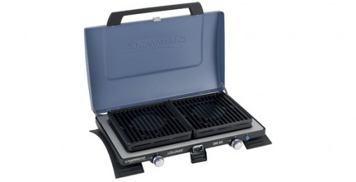 The Campingaz 400SG Double Burner & Grill is Sold by Devon Outdoor and The Camping and Kite Centre.