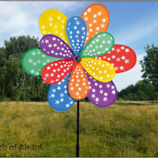 The Spirit of Air Star Flower Spinner is Sold by Devon Outdoor and The Camping and Kite Centre.