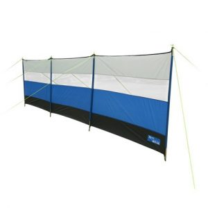 The Kampa Windbreak - Azure Blue is Sold by Devon Outdoor and The Camping and Kite Centre.