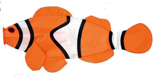 The Spirit of Air Clownfish Windsock is Sold by Devon Outdoor and The Camping and Kite Centre.
