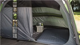 The Outwell Cedarville 5A Tent is Sold by Devon Outdoor and The Camping and Kite Centre.
