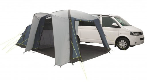 The Outwell Milestone Nap Air Driveaway Awning is Sold by Devon Outdoor and The Camping and Kite Centre.