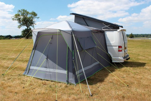 The Outdoor Revolution Cayman Midi Air Driveaway Awning is Sold by Devon Outdoor and The Camping and Kite Centre.