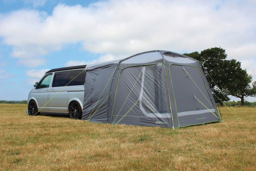 The Outdoor Revolution Cayman Tail Driveaway Awning is Sold by Devon Outdoor and The Camping and Kite Centre.