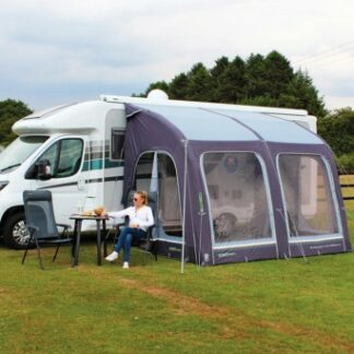 The Outdoor Revolution E-Sport Air L 325 Caravan Awning is Sold by Devon Outdoor and The Camping and Kite Centre.