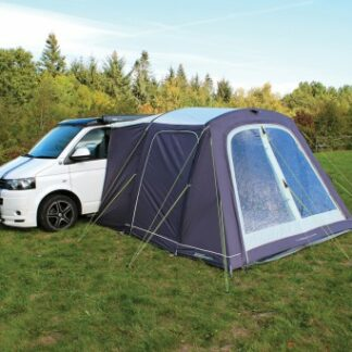The Outdoor Revolution Turismo Air Driveaway Awning is Sold by Devon Outdoor and The Camping and Kite Centre.