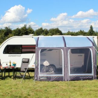 The Outdoor Revolution E-Sport Air 325 Caravan Awning is Sold by Devon Outdoor and The Camping and Kite Centre.