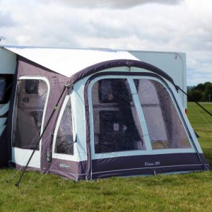 The Outdoor Revolution Elan 280 Caravan Awning is Sold by Devon Outdoor and The Camping and Kite Centre.
