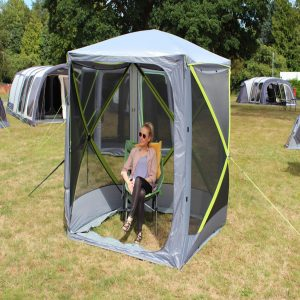 The Outdoor Revolution Cayman Screenhouse 4 is Sold by Devon Outdoor and The Camping and Kite Centre.