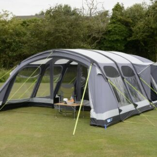 The Kampa Studland 8 Air Pro Tent is Sold by Devon Outdoor and The Camping and Kite Centre.