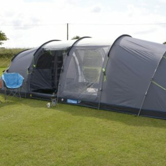 The Kampa Watergate 8 Tent is Sold by Devon Outdoor and The Camping and Kite Centre.