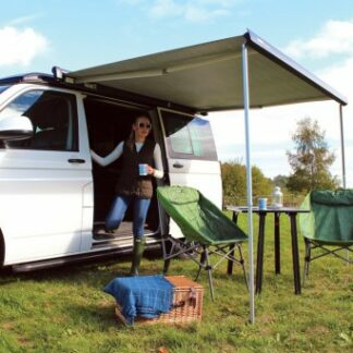 The Reimo Thule Windout Awning 2.6m is Sold by Devon Outdoor and The Camping and Kite Centre.