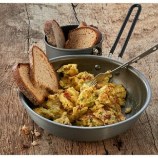 The Trek'n Eat Scrambled Eggs with Onions is Sold by Devon Outdoor and The Camping and Kite Centre.