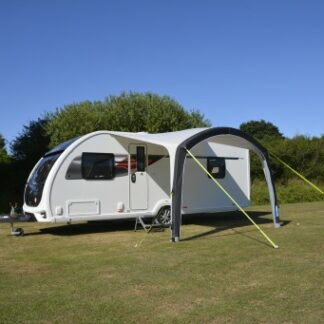 The Kampa Sunshine Air Pro 300 Canopy is Sold by Devon Outdoor and The Camping and Kite Centre.