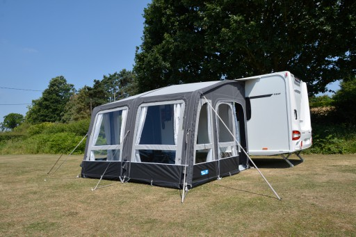 The Kampa Grande Air All Season 330 is Sold by Devon Outdoor and The Camping and Kite Centre.