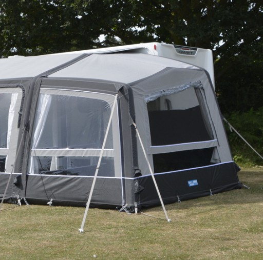 The Kampa Grande Air All Season Right Extension is Sold by Devon Outdoor and The Camping and Kite Centre.