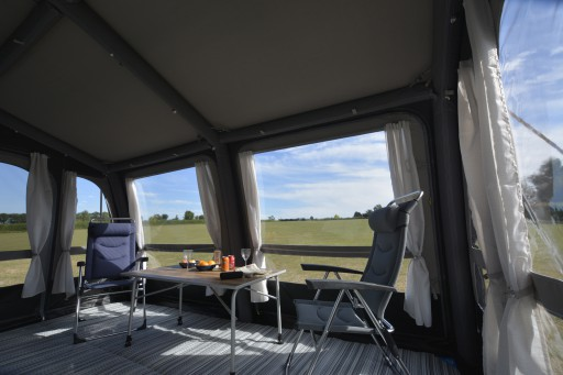 The Kampa Grande Air All Season 390 is Sold by Devon Outdoor and The Camping and Kite Centre.