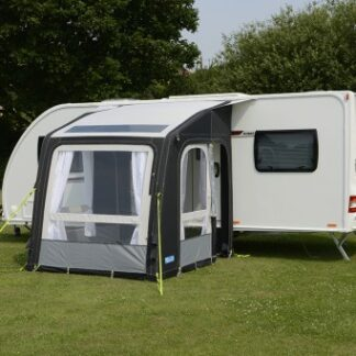 The Kampa Rally Air Pro 200 Caravan Awning is Sold by Devon Outdoor and The Camping and Kite Centre.