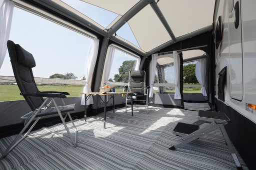 The Kampa Rally Air Pro 390 Plus is Sold by Devon Outdoor and The Camping and Kite Centre.