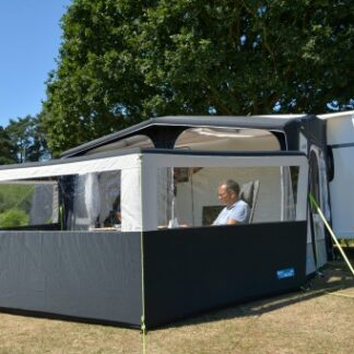 The Kampa Air Break Pro 3 is Sold by Devon Outdoor and The Camping and Kite Centre.