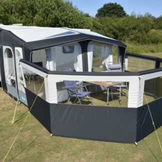 The Kampa Air Break Pro 5 is Sold by Devon Outdoor and The Camping and Kite Centre.
