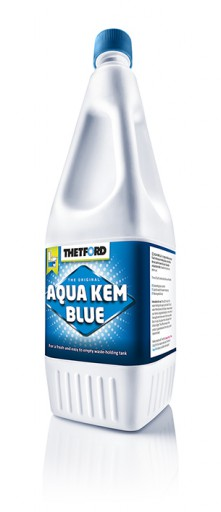 The Thetford Aqua Kem Blue is Sold by Devon Outdoor and The Camping and Kite Centre.