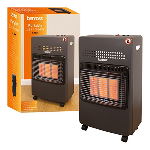 The Benross Portable Gas Cabinet Heater is Sold by Devon Outdoor and The Camping and Kite Centre.