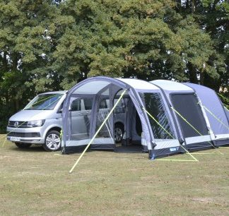 The Kampa Travel Pod Touring Air VW Driveaway Awning is Sold by Devon Outdoor and The Camping and Kite Centre.