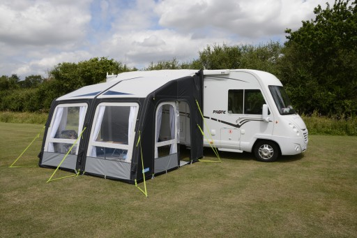 The Kampa Motor Rally Air Pro 330 Driveaway is Sold by Devon Outdoor and The Camping and Kite Centre.
