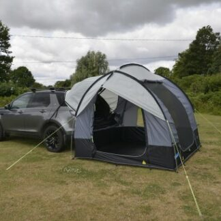 The Kampa Travel Pod Tailgater is Sold by Devon Outdoor and The Camping and Kite Centre.