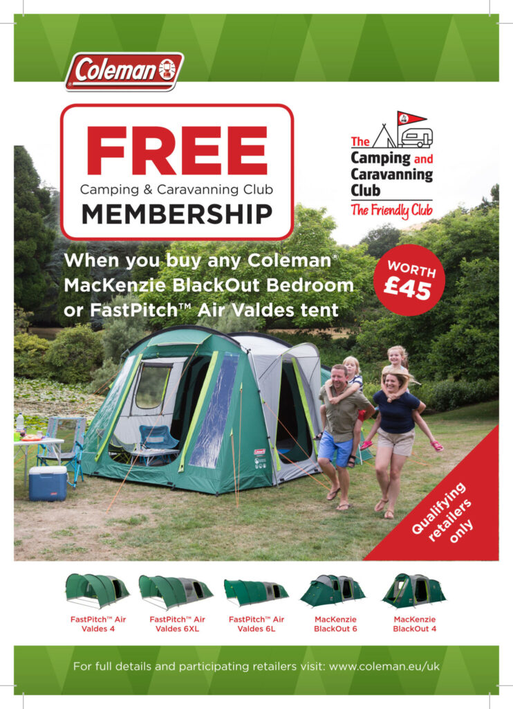 Coleman Camping and Caravanning Tent Offer