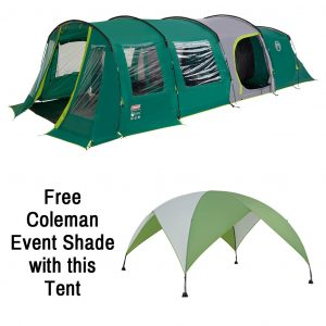The Coleman Pinto Mountain 5 Plus XL is Sold by Devon Outdoor and The Camping and Kite Centre.