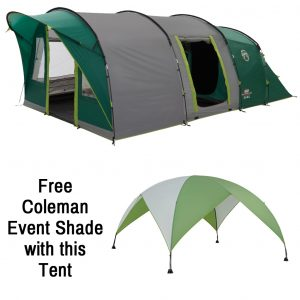 The Coleman Pinto Mountain 5 Plus is Sold by Devon Outdoor and The Camping and Kite Centre.