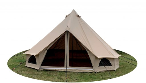 The Quest 5m Bell Tent is Sold by Devon Outdoor and The Camping and Kite Centre.