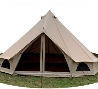 The Quest 4m Bell Tent is Sold by Devon Outdoor and The Camping and Kite Centre.