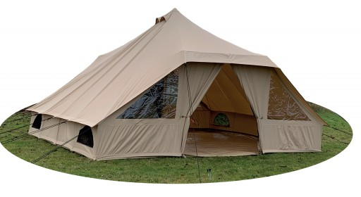 The Quest Touareg Canvas Tent is Sold by Devon Outdoor and The Camping and Kite Centre.