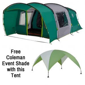 The Coleman Rocky Mountain 5 Plus XL is Sold by Devon Outdoor and The Camping and Kite Centre.