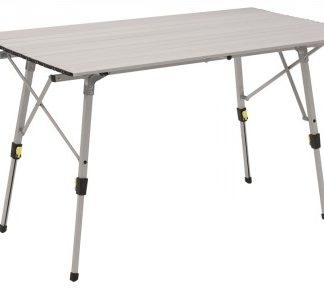 The Outwell Canmore L Table is Sold by Devon Outdoor and The Camping and Kite Centre.