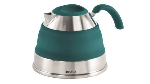 The Outwell Collaps Kettle 1.5L is Sold by Devon Outdoor and The Camping and Kite Centre.
