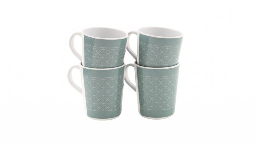 The Outwell Blossom Mug Set - Pack of 4 is Sold by Devon Outdoor and The Camping and Kite Centre.