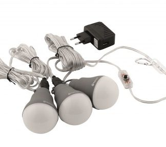 The Outwell Epsilon Bulb Set is Sold by Devon Outdoor and The Camping and Kite Centre.