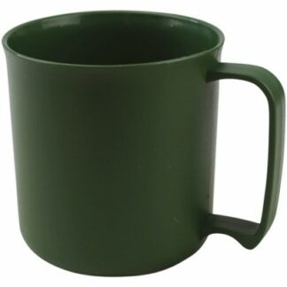 The KombatUK Plastic Cadet Mug is Sold by Devon Outdoor and The Camping and Kite Centre.
