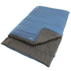 The Outwell Celebration Lux Double Sleeping Bag is Sold by Devon Outdoor and The Camping and Kite Centre.