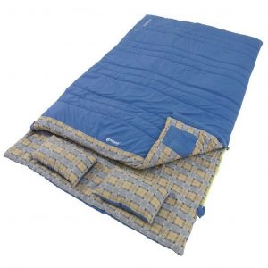 The Outwell Commodore Double Sleeping Bag is Sold by Devon Outdoor and The Camping and Kite Centre.